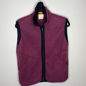 REI Vintage maroon fleece zipper vest